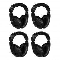 4x Behringer HPM1000 Black Multi Purpose Headphones