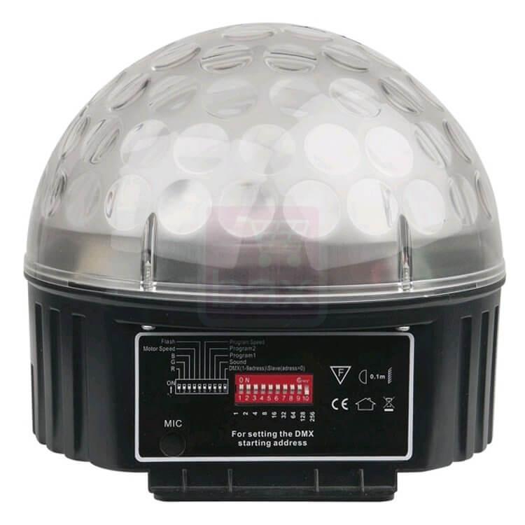 SHOWTEC Star LED 9w DMX mirrorball