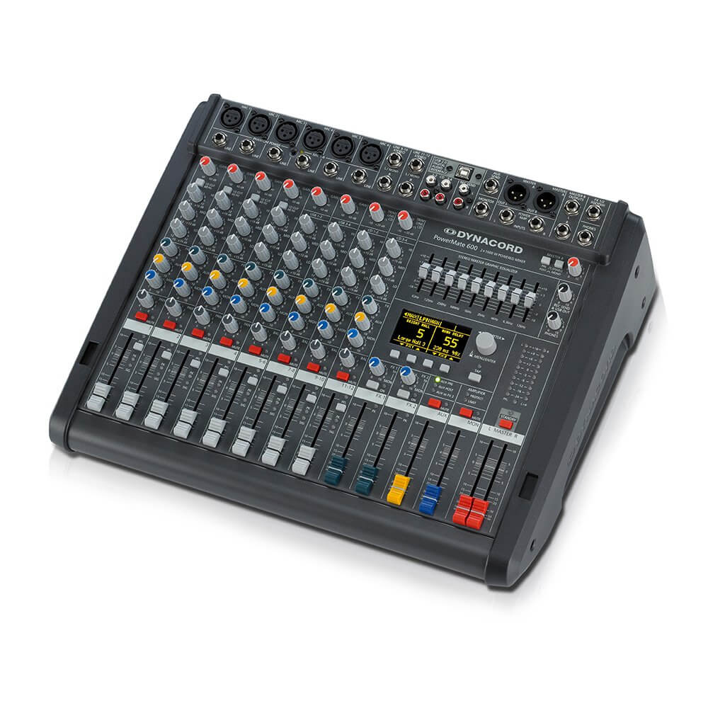 Dynacord PowerMate 600-3 8 Channel Powered Mixer Mixing Desk 2 x 1000W Effects USB
