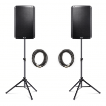 """2x Alto Professional TS315 2000W 15"""" 2-Way Active Speakers inc. Stands and Cables"""