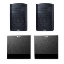 """2x Alto TX212 + 2x TX212S Active Powered Sound System 12"""" 3000W PA DJ Disco"""