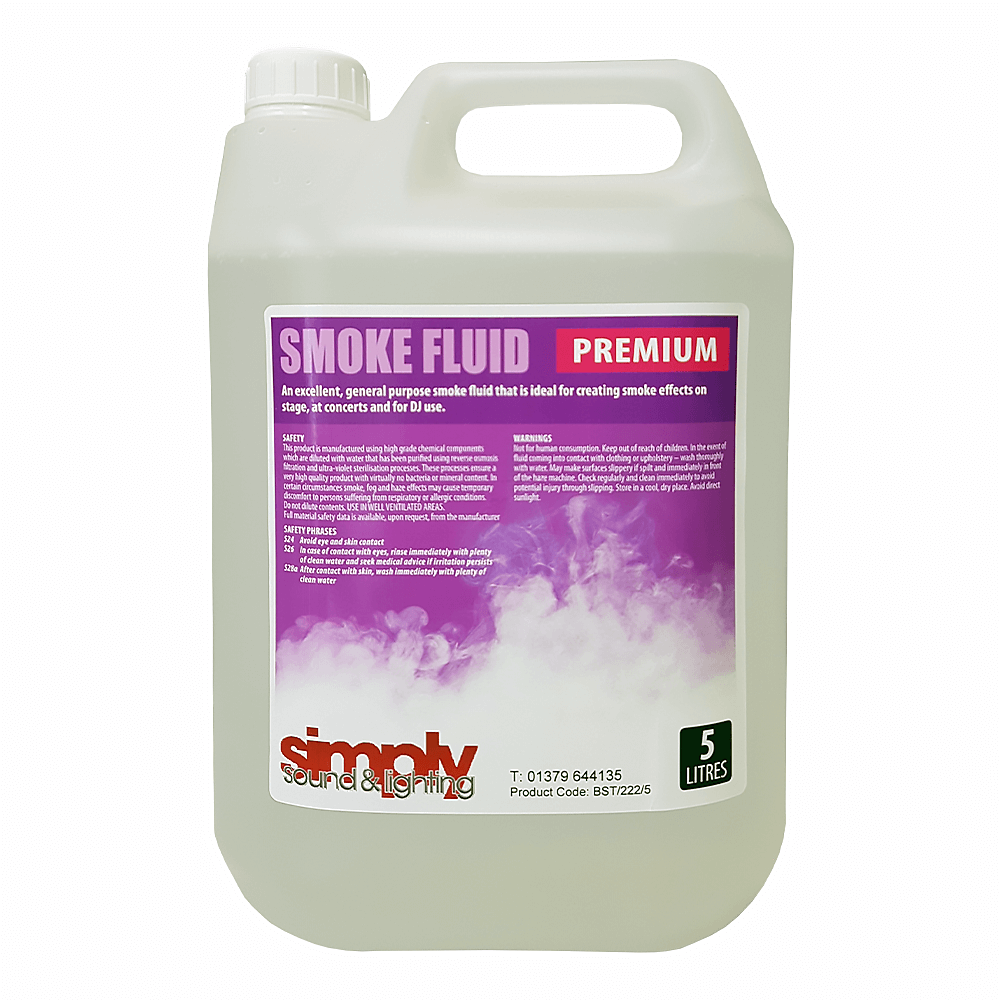 Simply Sound & Lighting High Quality Smoke/Fog Fluid 5 Litres