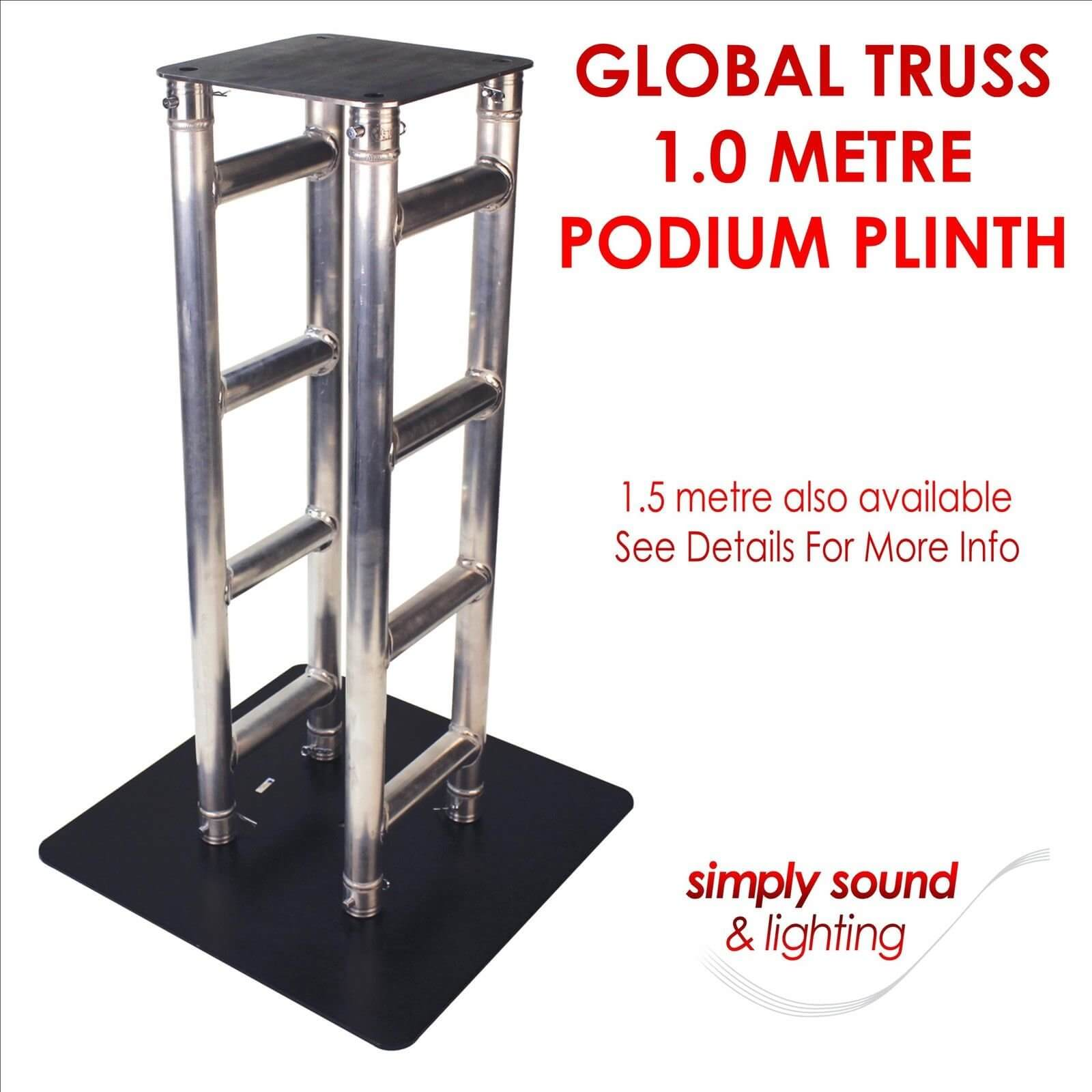 Global Truss Podium Plinth 1.0 Metre Flat Pack for Disco Lights Moving Heads etc