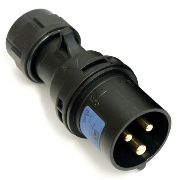 16A Plug 3P Black Heavy Duty 16 Amp Stage Lighting Power