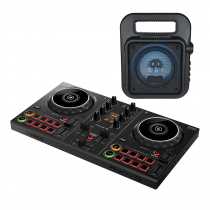 Pioneer DDJ200 Smart DJ Controller for Smartphones and Streaming Plus QTX Portable Bluetooth Speaker