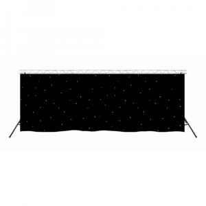 LEDJ White LED DMX Black Starcloth (6m x 3m) inc. Truss System