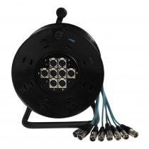 W Audio 8 Way XLR Multicore Drum Stage Box (15m)