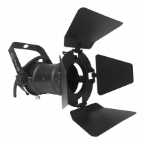 Pulse PAR16 240V Spotlight (Black) inc. Lamp and Barndoor