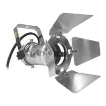 Pulse PAR16 240V Spotlight (Chrome) inc. Lamp and Barndoor