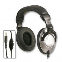 Pulse Studio Headphones - Volume Control & 3.5mm + 6.35mm Adaptor STUDIO CANS DJ