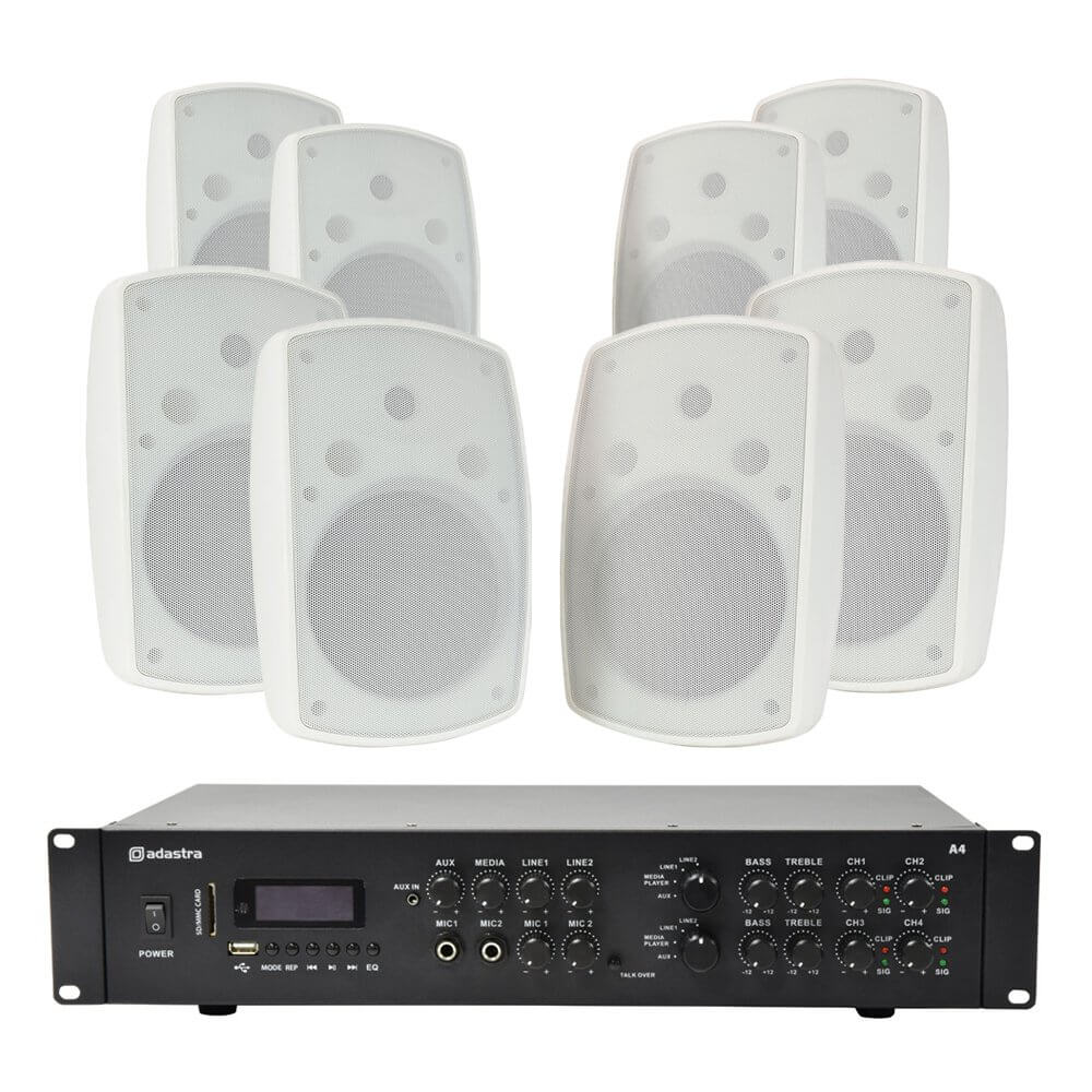 Adastra A4 Amplifier and BH8 Speakers Package