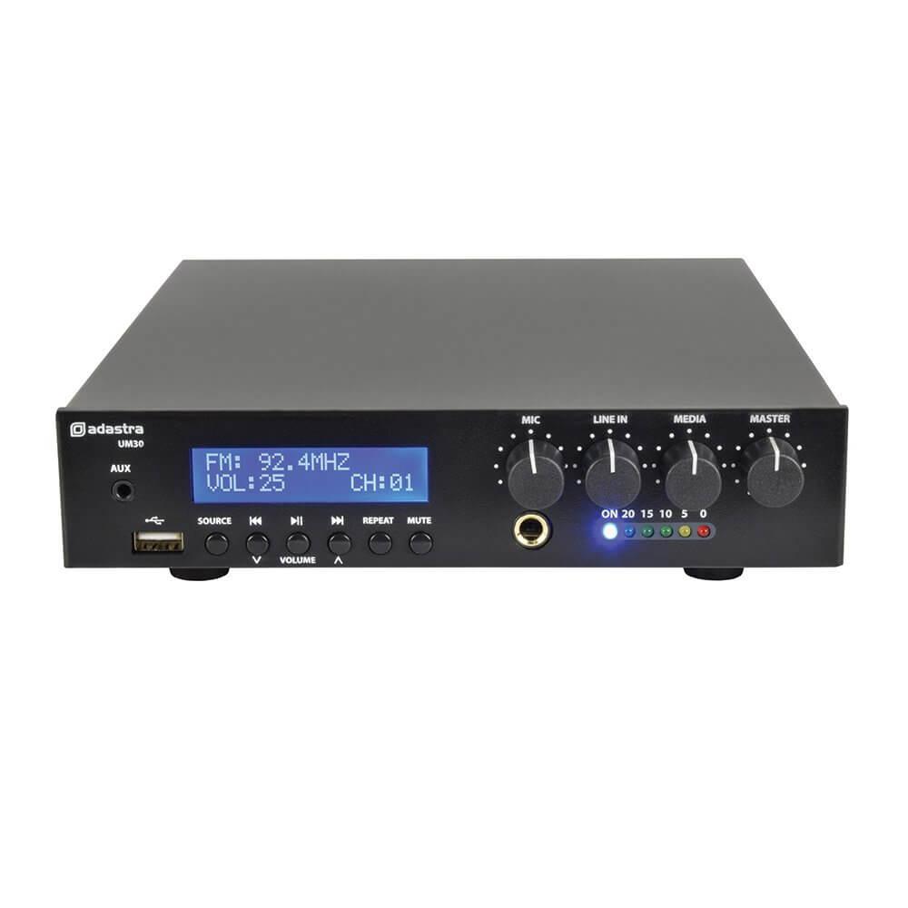 Adastra UM30 Ultra Compact Mixer-Amplifier 100V