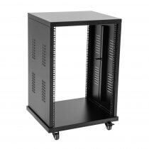 Roadinger 16U Steel Rack Wheeled Studio PA Universal Server Case