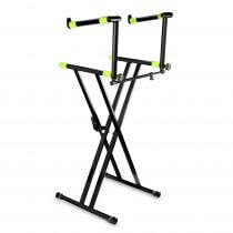 Gravity KSX2 Keyboard Stand X Form Double inc KSX2T Tilting Tier Piano Musician Band