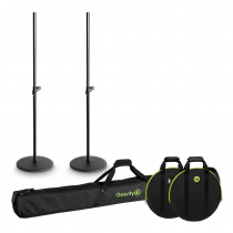 2x Gravity Speaker Stand with Round Bases inc. Carry Bags