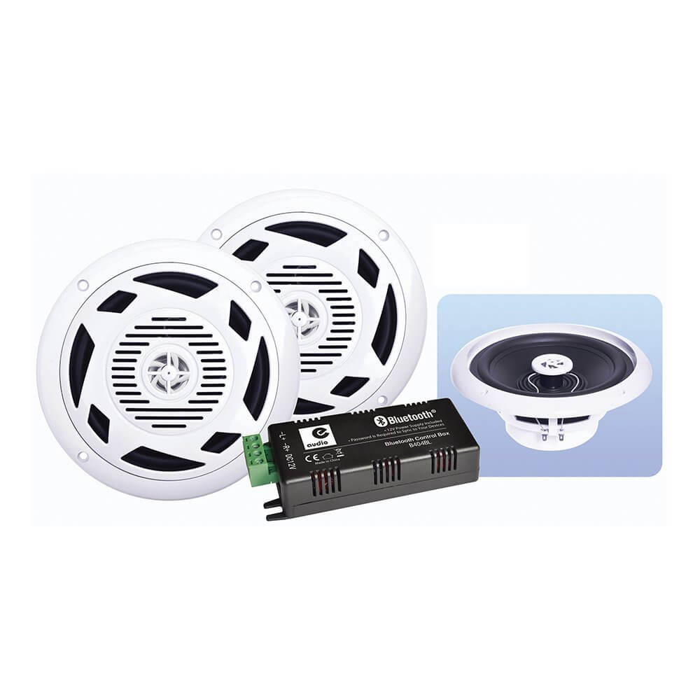 eAudio 6 5 Bluetooth Ceiling Speaker 60W Kit inc Amplifier Kitchen Bathroom  Sound System HiFi