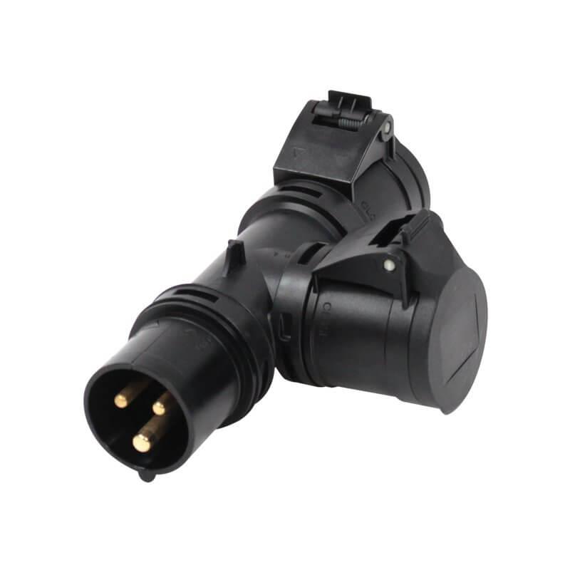 PCE T Connect - Plug & 2 Connector- Splitter Power Distro Split