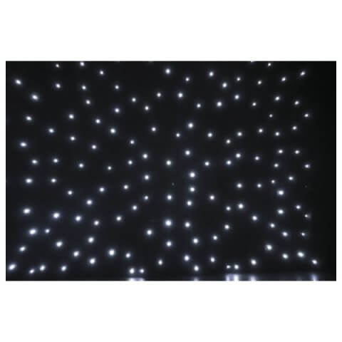 Showtec Stardrape White LED Black Star Cloth Starcloth 6m x 4m