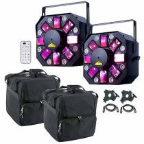 ADJ Stinger II 3-FX-IN-1 inc. Bags, Cables, Remotes and Clamps