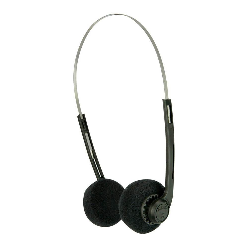 av:link Lightweight Stereo Headphones Adjustable Headband Jack Computer School
