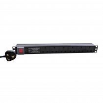 "Eagle 19"" 6-Way Socket PDU with 3 Way Surge Protection"
