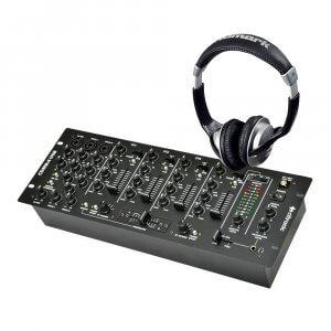 Citronic CDM8:4 USB Mixer & Numark HF125 Headphones
