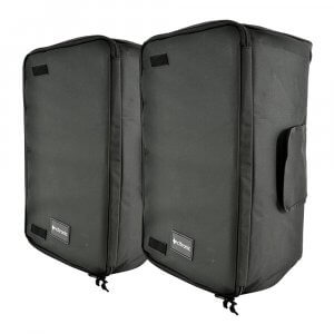 "2x Citronic 15"" Padded Speaker Carry Bag"