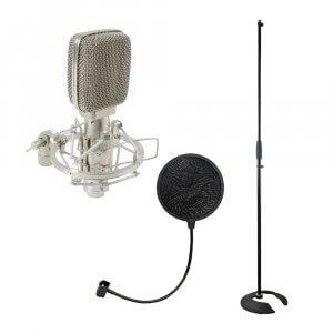 Citronic RM06 Ribbon Microphone for Recording Instruments & Vocal Studio Bundle