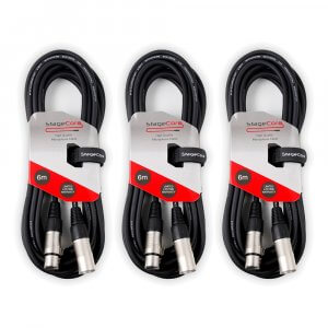 3x StageCore 3Pin XLR Cable (6M)