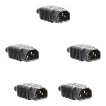 5x IEC Male Connector Plugs