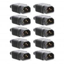 10x Pro Elec IEC Plug Heavy Duty Rewireable Screw Terminals DJ Disco Lighting