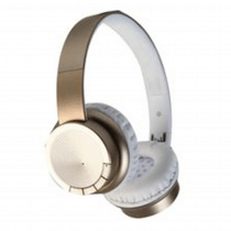 Pro Signal Bluetooth Wireless Gold White Headphones Over Ear