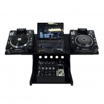 Novopro CDJ WS1 Workstation Deck Stand DJ Disco CD Player Controller Desk
