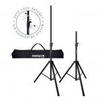 NovoPro SS3R Set of Premium Speaker Stand inc Bag PA Disco DJ