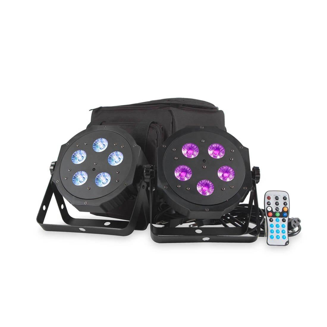 ADJ VPar Pak LED Lighting Kit Uplighter Inc Remote & Case
