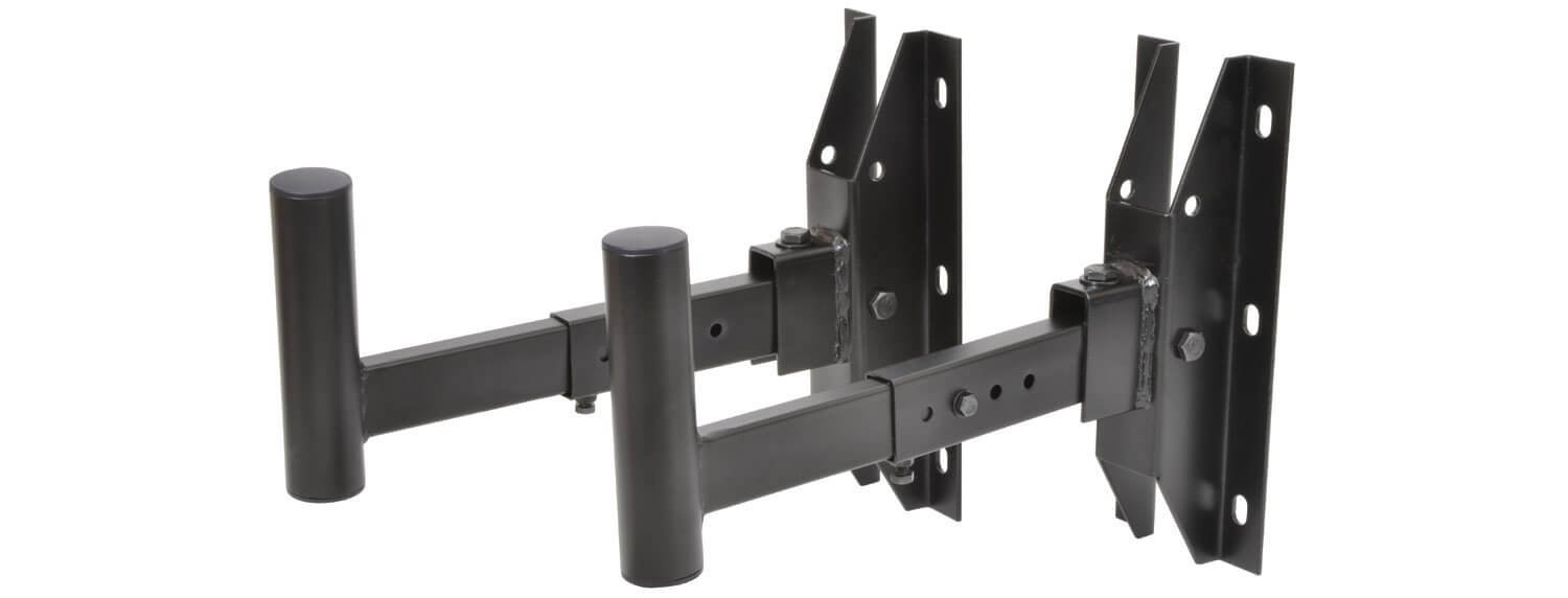 QTX Pair of Adjustable Wall Bracket 35mm 50KG