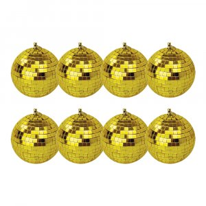 8x FXLAB Gold Mirror Balls 10cm
