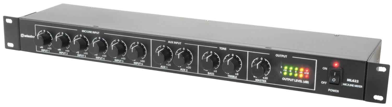Adastra ML622 1U Rack Mic Line Mixer