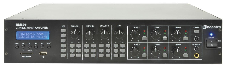 ADASTRA 6 ZONE MIXER AMPLIFIER + USB/SD/FM/BLUETOOTH