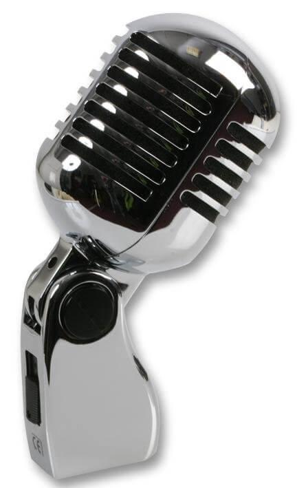Pulse Retro 50's Chrome Microphone Elvis Style