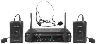 PULSE  PWM200VHF-BP  VHF Dual Lavalier / Headset Wireless Microphone System, 173.8+175.0MHz