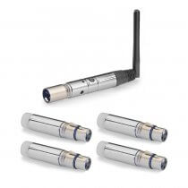 Stagg SLI-STICK24 Wireless DMX Stick Transmitter / Receiver 2.4Ghz XLR Package