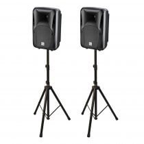 "2x Studiomaster bDRIVE10A Active Speaker 1000W 10"" PA System DJ Disco"