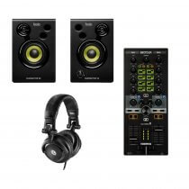 Reloop Mixtour 2 Channel All in One Midi DJ Controller for iPad/Tablet Spotify DJAY2 Bundle