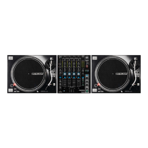 2x Reloop RP-7000MK2 Professional Direct Drive Turntables (Black) inc. RMX-90DVS Mixer