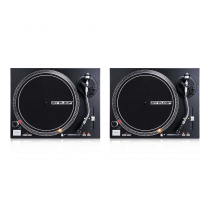 2x Reloop RP-4000M MK2 Direct Drive Turntables (Black)
