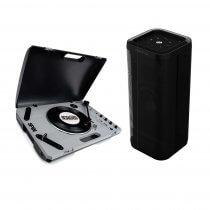 Reloop Spin Portable Turntable System for DJ Vinyl Scratching + Reloop Groove Blaster Speaker