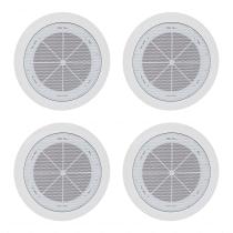 4x TOA PC-1868W-EB Ceiling Speakers 6W 100W White