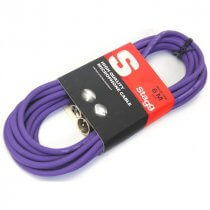 Stagg 6m Microphone Cable Lead Purple