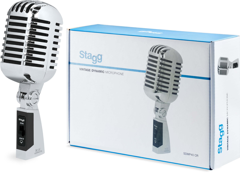 Stagg SDMP40CR Retro Vintage Microphone 50's